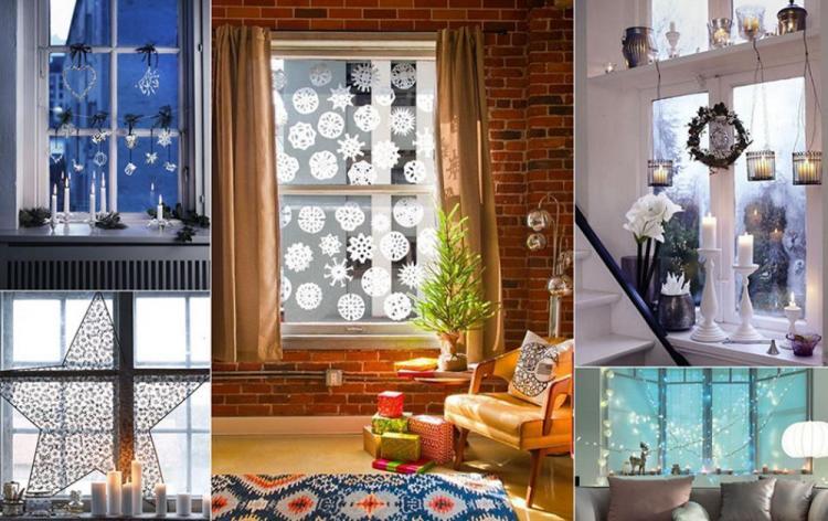 Коледна Украса - Стикери за Прозорец