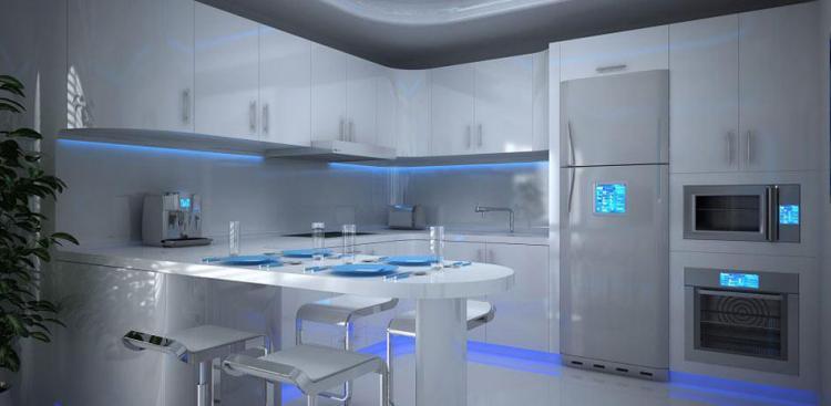 LED Осветление за Една Футуристична Кухня