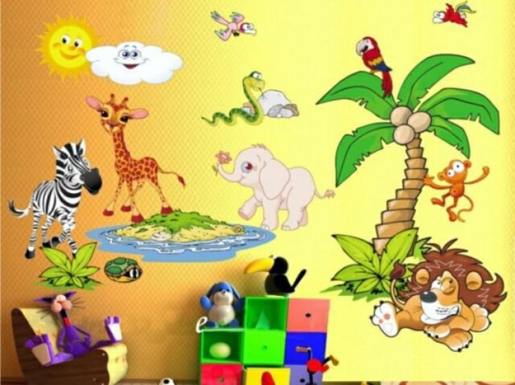 Да направим стената в детската стая по-забавна със стикери