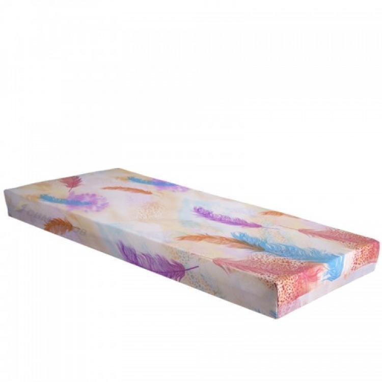 Еднолицев матрак от дунапрен с дървено-фазерна рамка
