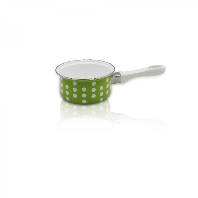 Касерола SAPIR SP 4521 E16, 16 см, 1.05 литра, Топлоизолорани дръжки, Зелена