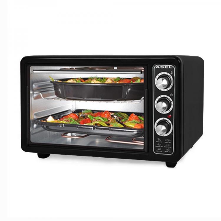 Готварска печка - фурна ASEL AL AF 0123, 650W, 40 литра, Черна
