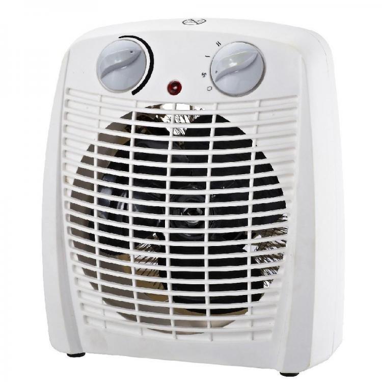 Вентилаторна печка - духалка SAPIR SP 1970 X, 2000W, 3 степени, Отопление/Охлаждане, Бяла