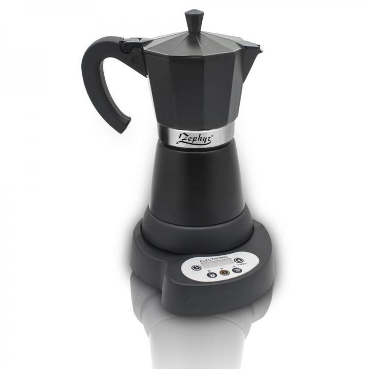 Електрическа кубинска кафеварка ZEPHYR ZP 1175 C6, 480W, Черна