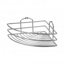 Ъглова етажерка за баня 1 ниво TEKNO-TEL BK 021, Дюбел