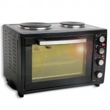 Готварска печка с конвекция ZEPHYR ZP 1441 SLC, 3300W, 42 литра, Енергиен клас А,  Два котлона, Черен