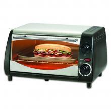Тостер за сандвичи - фурна SAPIR SP 1441 NSB, 600W, 10 литра, Таймер, Черна/Сребрист