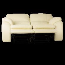 Кожен диван - двойка с релакс механизъм CARLA