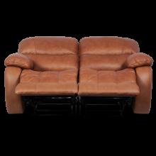 Кожен диван - двойка с релакс механизъм LOUISA