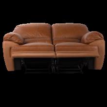 Кожен диван - двойка с релакс механизъм VERONICA
