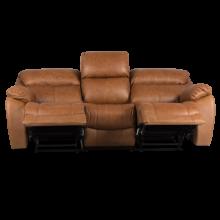 Кожен диван - тройка с релакс механизъм BAR