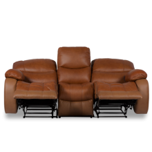 Кожен диван - тройка с релакс механизъм LOUISA