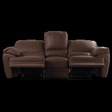 Кожен диван - тройка с релакс механизъм VERONICA