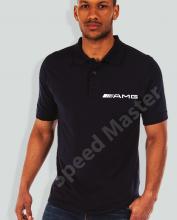 Поло риза с емблема AMG